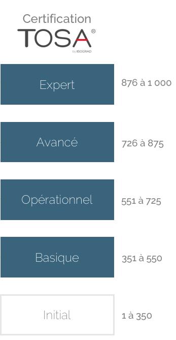 TOSA Desktop grille d'évaluation